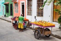 Owocowi sprzedawcy Zdjęcia Stock