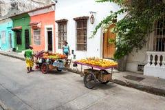 Owocowi sprzedawcy w Cartagena Zdjęcie Stock