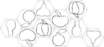 Owocowi sześciokąty Obraz Royalty Free