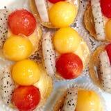 owocowi tartlets zdjęcie stock