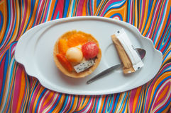 Owocowi tartlets arbuz, kantalup, pomarańcze (,) obrazy royalty free