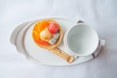 Owocowi tartlets arbuz, kantalup, pomarańcze (,) obraz royalty free