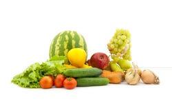 owocowi ustaleni różnorodni warzywa Zdjęcie Royalty Free