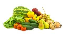 owocowi ustaleni różnorodni warzywa Zdjęcia Royalty Free
