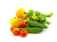 owocowi ustaleni różnorodni warzywa Fotografia Royalty Free