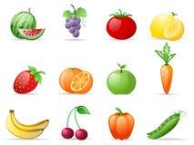 owocowi warzywa royalty ilustracja