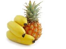 owocowy bananów ananasy Zdjęcie Stock