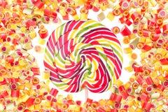 Owocowy cukierku wzór dla tła Obrazy Royalty Free