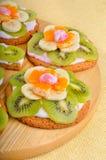 Owocowy deser z egzotycznymi owoc Obraz Stock