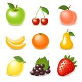 owocowy glansowany set Fotografia Royalty Free