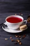 Owocowy herbaty, kawy creme macaron i lub sztuki pięknej kamery oczu mody pełne splendoru zieleni klucza wargi target1847_0_ depr Obraz Royalty Free