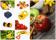 Owocowy i warzywa kolaż fotografia stock