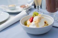Owocowy jogurt w miodzie Fotografia Stock
