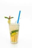 Owocowy koktajl w filiżance z straw7 Obraz Stock