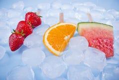 Owocowy lody pojęcie Zdjęcia Royalty Free