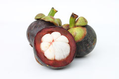 owocowy mangostan Thailand tropikalny Obraz Royalty Free