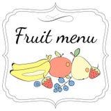 Owocowy menu szablon Zdjęcia Stock