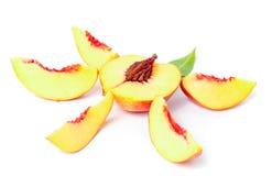 Owocowy nektaryna set Obrazy Royalty Free