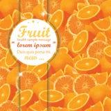 Owocowy pomarańcze tło Fotografia Royalty Free