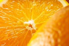 Owocowy pomarańcze tło Makro- Zdjęcie Royalty Free