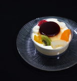 Owocowy pudding Obraz Stock