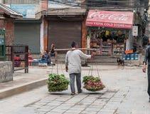 Owocowy rynek w Kathmandu Obrazy Royalty Free