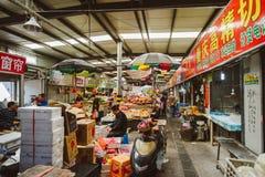 Owocowy rynek w Szanghaj, Chiny Fotografia Stock
