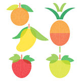 Owocowy smak Ustawia 3 Obrazy Royalty Free
