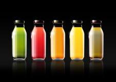 Owocowy sok w szklanej butelce dla projekt reklamy i rocznika loga, owoc, przejrzysta, wektor ilustracja wektor