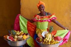 Owocowy sprzedawca Zdjęcia Royalty Free