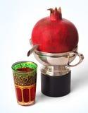 owocowy szklany granatowiec Zdjęcia Royalty Free