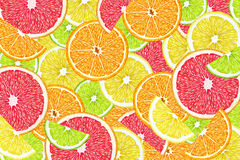 Owocowy tło z plasterkami, grapefruitowy, Zdjęcie Royalty Free