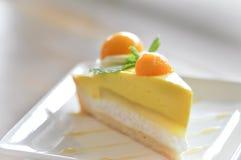 Owocowy tarta lub owoc mango tortowy tort Zdjęcie Stock