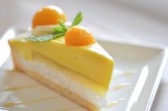 Owocowy tarta lub owoc mango tortowy tort Fotografia Royalty Free