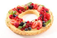 Owocowy tarta z śmietanką Fotografia Stock