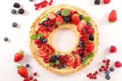 Owocowy tarta z śmietanką Fotografia Royalty Free
