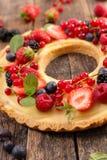 Owocowy tarta z śmietanką Obrazy Stock