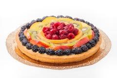 Owocowy tarta z barwioną galaretą Fotografia Royalty Free