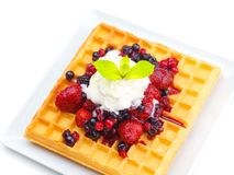 Owocowy wafel Fotografia Stock