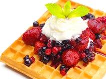 Owocowy wafel Obrazy Royalty Free