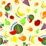 owocowy wzór Obraz Royalty Free