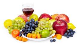 owocowych prezentów szklany natury wino Obraz Royalty Free