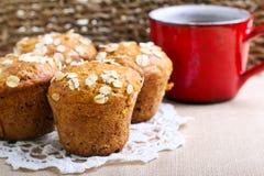 Owsów muffins Obraz Royalty Free