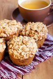 Owsa streusel muffins zdjęcie royalty free