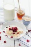 Owsianka z cranberries Zdjęcie Royalty Free