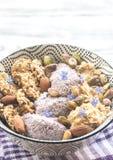 Owsy z chia zboża i puddingu ciastkami zdjęcie stock