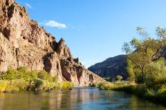 峡谷owyhee河 库存照片