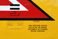 Oxígeno de alta presión Foto de archivo