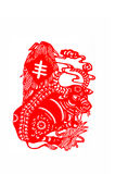 Ox. This paper-cut shows the ox, one of the Chinese Zodiac Royalty Free Stock Photos