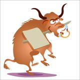 Ox. Chinese zodiac - illustration of chinese traditional birthday animal Royalty Free Stock Image